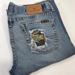 Lucky Brand Jeans Sweet Dreams Patched Button Fly
